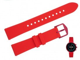 Pasek do zegarka Fossil FTW6052 18 mm czerwony