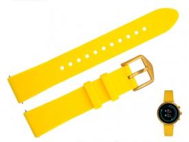 Pasek do zegarka Fossil FTW6053 18 mm żółty