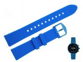 Pasek do zegarka Fossil FTW6051 18 mm niebieski