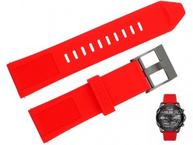 Pasek do zegarka DIESEL DZT2006 czerwony 24 mm
