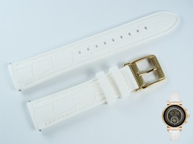 Pasek do zegarka Michael Kors MKT5067 silikonowy biały 18 mm