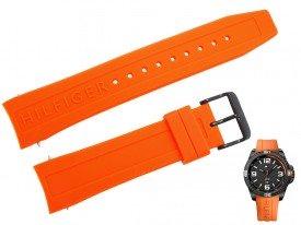 Pasek do zegarka Tommy Hilfiger TH 1791088 pomarańczowy