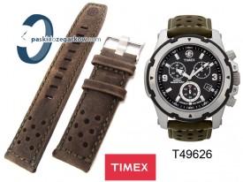 T49626 - Pasek Timex - skórzany 22mm