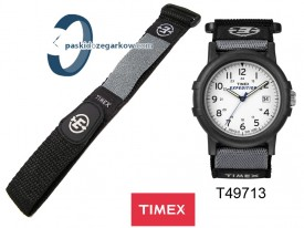 T49713 - Pasek Timex - materiałowy - zapinany na rzep