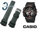 Pasek Casio GA-100, GA-110 , GA-120, GA-300 czarny matowy