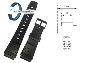 Pasek Casio do modeli: ABX-21, DB-59W, DB-80W, VDB-101
