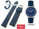 Pasek Timex - 22mm - Jeans - niebieski - T2N955