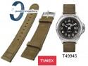 Pasek Timex - 20mm, skórzany - nubuk - T49945