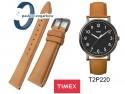Pasek skórzany Timex - 20mm - jasny brąz - T2P222