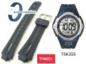Pasek Timex do zegarka - T5K355 - granatowy