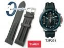 Pasek Timex - skórzany, czarny - 22mm - T2P274