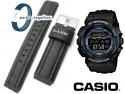 Pasek Casio G-Shock - materiałowo-skórzany, czarny, 20mm - GLS-100