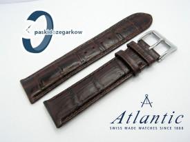Atlantic - 22mm - skórzany, brązowy, sprzączka stalowa