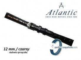 Pasek Atlantic 12mm czarny