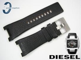 Pasek DIESEL DZ1215 czarny skórzany