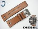 Pasek do DIESEL DZ7332 skórzany brązowy