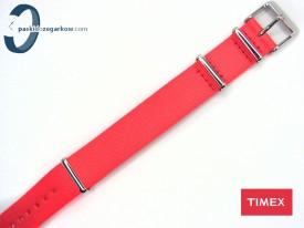 Pasek Timex WEEKENDER parciany 18 mm jednoczęściowy koralowy