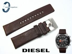 Pasek Diesel DZ4204 brązowy skórzany