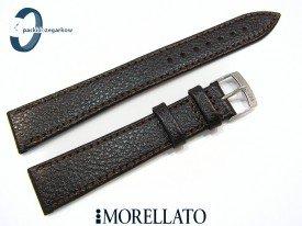 Pasek MORELLATO DUBLINO XL 18 mm ciemny brąz skórzany