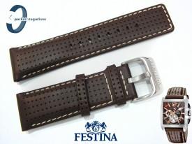 Pasek do Festina F16363 skórzany brązowy 26 mm