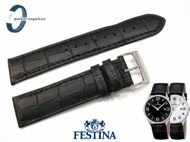 Pasek Festina F16518 skórzany czarny 21 mm