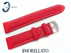 Pasek MORELLATO SQUASH gumowo-materiałowy czerwony
