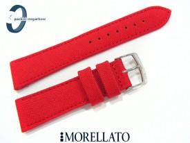 Pasek MORELLATO CORDURA materiałowo-skórzany czerwony