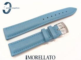Pasek MORELLATO MUSA skórzany niebieski turkusowy