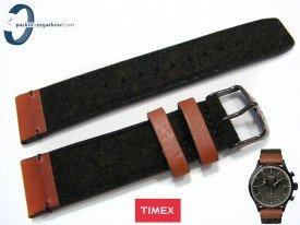Pasek Timex T2P95500 skórzano-materiałowy 22 mm