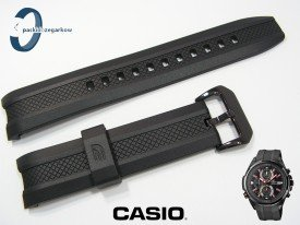 Pasek Casio EFR-536PB-1A3, EFR-536 czarny gumowy