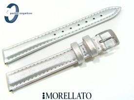 Pasek Morellato TREND skórzany srebrny