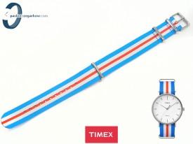 Pasek Timex Weekender TW2P90900 20 mm żółto-granatowy
