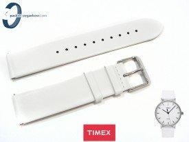 Pasek Timex TW2R26100 skórzany biały 20 mm