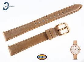 Pasek Fossil Jacqueline ES3487 skórzany beżowy 14 mm