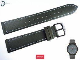 Pasek Timex TW2P96000 skórzany szary 20 mm