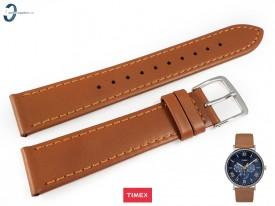 Pasek Timex TW2R29100 skórzany brązowy 20 mm