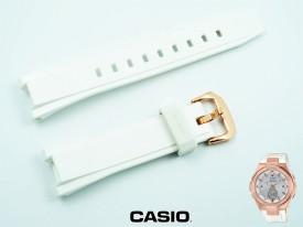 Pasek Casio MSG-S200G-7A, MSG-S200G biały