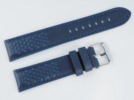 Pasek MORELLATO RALLY skórzany granatowo-niebieski 20 mm