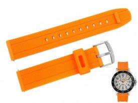 Pasek TIMEX TW2R67400 pomarańczowy gumowy 20 mm