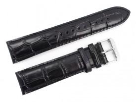 Pasek do zegarka Lorus 22 mm czarny skórzany
