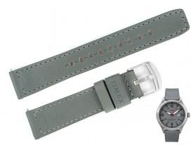 Pasek do zegarka TIMEX TW2R71000 szary skóra 20 mm