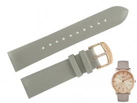 Pasek do zegarka TIMEX TW2R49500 szary skóra 20 mm