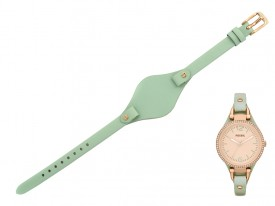 Pasek do zegarka Fossil Georgia ES3467 zielony