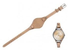 Pasek do zegarka Fossil Georgia ES3618 jasny brąz
