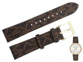 Pasek do zegarka Michael Kors MK2857 brązowy 18 mm