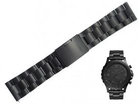 Bransoleta Fossil FTW1115 stalowa czarna 24 mm