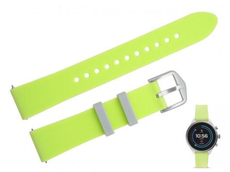 Pasek do zegarka Fossil FTW6028 18 mm zielony