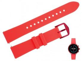 Pasek do zegarka Fossil FTW6027 18 mm czerwony