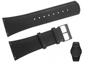 Pasek do zegarka Skagen SKW6043 czarny skórzany