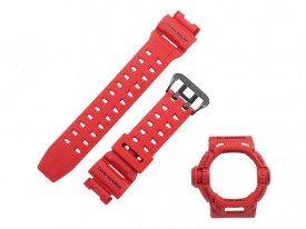 Pasek i bezel do zegarka Casio GW-9200 G-9200 GW-9200RDJ-4 czerwony